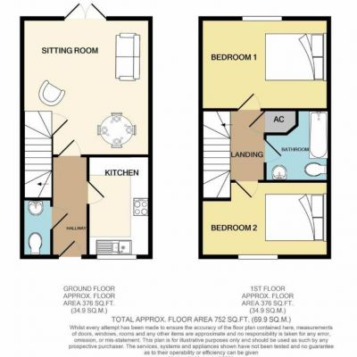 Dairy Court 2 Bed Floor Plan