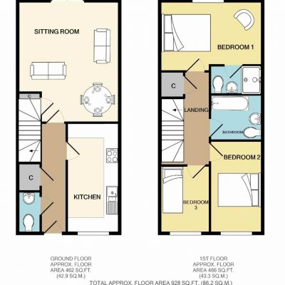 Dairy Court 3 Bed Floor Plan